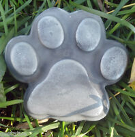 Cat stepping stone mold plastic reusable casting mould