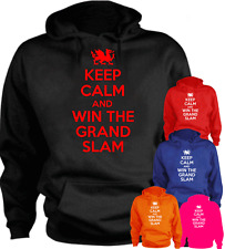 KEEP CALM AND WIN GRAND SLAM Wales Dragon Present Gift New Hoodie