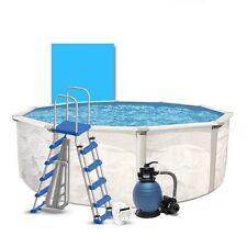 15' Round Above Ground Swimming Pool Package Simple Kit - Oceania Weekender