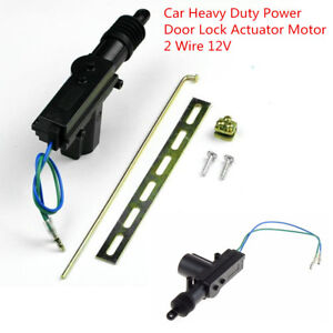 Auto Car Heavy Duty Power Door Lock Motor 2 Wire DC 12V Alarms & Security System