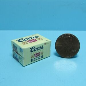 Dollhouse Miniature Replica Coors Beer Box / Case