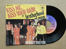 "DISQUE 45T  DE BROTHERHOOD OF MAN   "" KISS ME  KISS  YOUR BABY  """