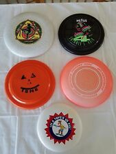Look! WHAM-O Frisbees 5-Lot Variety Vintage