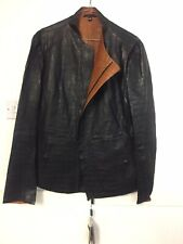 Brand New Mens Giorgio Armani Lambskin Leather Jacket Size 54