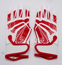 Nike Youth HyperDiamond Edge Batting Gloves youth Medium White/Red
