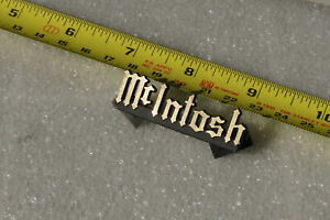 McIntosh Labs original emblem, badge, logo.  SML