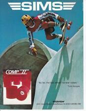 New listing Rare 1978 Sims Skateboard Ad/ Tom Inouye / Comp Ii Wheels