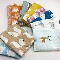 Cotton Baby Blankets Newborn Soft Organic Toddler Muslin Breathable Swaddle