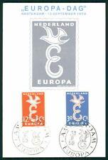 NETHERLANDS MK 1958 EUROPA CEPT CARTE MAXIMUM CARD MC CM ec83