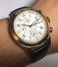 VETANIA Swiss 10 Micron Gold-Plated Ltd Edition Valjoux 7750 Auto Chrono Watch
