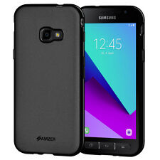 AMZER Pudding Matte TPU Case Back Cover For Samsung Galaxy Xcover 4 G390F -Black