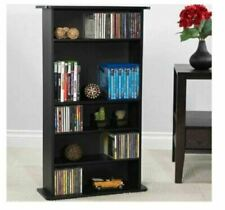 New 5 Shelves Media Storage Cabinet Book DVD Movie Tower Stable Organizer Stand