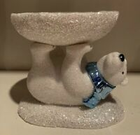 Bath & Body Works SPARKLY POLAR BEAR PEDESTAL 3-Wick Candle Holder