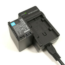 Mains Charger +2800mAh Battery for Canon BP-827 LEGRIA HF iVIS HF20 HF200 S21 DV