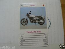 15-MOTOREN D2 YAMAHA XS1100 BIKE  KWARTET KAART MOTORCYCLES, QUARTETT