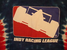 Indy Racing League Race Fan Tie-Dye Red White Blue T Shirt M