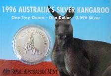1996 Australia Silver Kangaroo $1 1oz Frosted UNC Coin - Royal Australian Mint