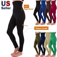 Women's High Waist Compression Top Tummy Control Thick Fleece Lined Leggings