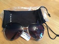 60f18b164 Tahari Glam Metal Rectangle With Enamel Trim Sunglasses 100 UV