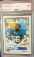 1983 Lawrence Taylor Topps #133 Giants Card PSA  MINT 9
