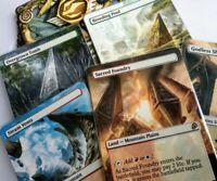 10 Shock Lands Full Art Land PACK Magic mtg altered art Steam Vents sacred