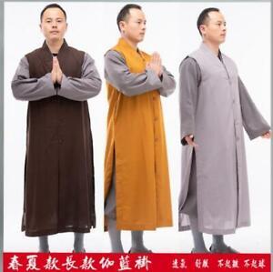 New Summer Cotton Long sleeveless Coats Zen Buddhist Monk Thin Vest Tops gift