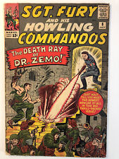 """Sgt.Fury and His Howling Commandos# 8- """" The Death Ray of Zemo!"""" Silver Age."""