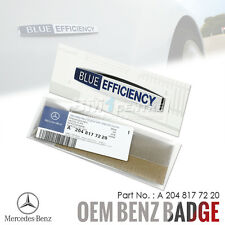 GENUINE OEM MERCEDES BENZ BLUE EFFICIENCY CHROME SIDE FENDER EMBLEM BADGE AMG