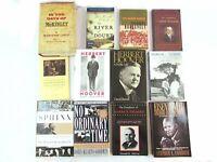 U.S. President Biography/History Book Lot (12) McKinley Roosevelt Truman Hoover+