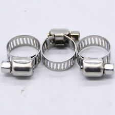 "Adjustable 20pcs 1/2""-3/4"" Stainless Steel Drive Hose Clamps Fuel Line Worm Clip"