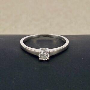DIAMOND 0.25ct Round Brilliant - G H Vs - Solitaire Platinum Engagement Ring 950
