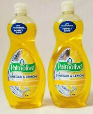 Palmolive Vinegar & Lemon Dish Washing Liquid Soap- Lot Of 2- Free Shipping