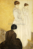 CASSATT MARY THE FITTING ARTIST PAINTING HANDMADE OIL CANVAS REPRO WALL ART DECO
