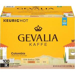 Gevalia Kaffe Colombian Coffee 100 to 200 Keurig K cup Pods Pick Any Quantity