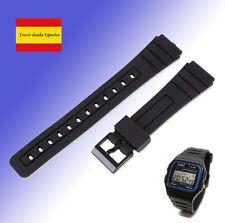 Repuesto de Correa Reloj Casio F91w de Plastico correas de recambio Negro goma