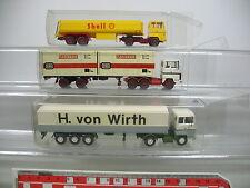 ai712-0, 5 #3X Wiking H0 Lorry Ford: H. BY WIRTH + Shell + DB / Federal Railway