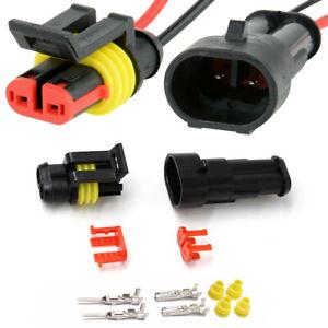 10 Paar KFZ 2polig Wasserdicht Kabel Stecker Steckverbindung Steckverbinder Auto