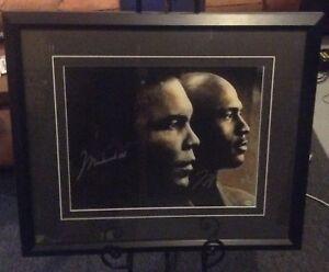 Michael Jordan and Muhammad Ali Autograhed Custom Framed Photo-UDA