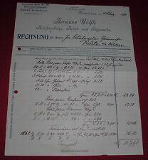 rechnung alt antik wölfle holz handlung hobel sägewerk meckenbeuren 1914 papier
