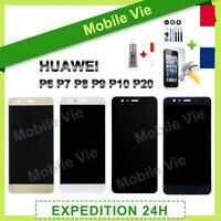 VITRE TACTILE + ECRAN LCD POUR HUAWEI P6/P7/P8/P9/P10/P20/P30 LITE/PSMART +COLLE