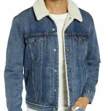 Levi's Denim Jacket Sherpa Lined Trucker Levis Jean Coat Retro Men Sz S NWT