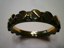 NWT: TORY BURCH Connor Nail Head Goldtone and Olive Green Bracelet, $95