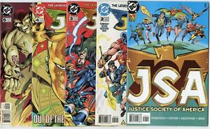 JSA #1 - 44, 46 - 51, 53 - 64, 66  avg. NM 9.4 white pages  DC  1999  No Reserve