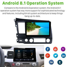 HD Touch Screen Android8.1 GPS Navigation Radio RCA Fit for Honda Civic 2006-11