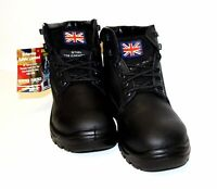 Britannia Bulldog black S1P anti-static safety work boot with midsole size 6-12