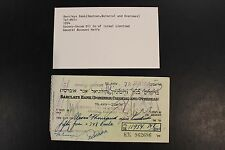 1954 Barclays Bank Socony-Vacuum Oil Co of Israel Limited check