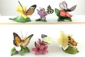 Lot of 6 Franklin Mint FP Butterflies Butterfly Figurines Figure S664