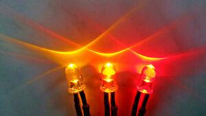 12V Flackerlicht 3x 3mm LED gelb, orange, rot - Brandflackern, brennendes Haus