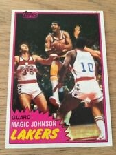 Topps Magic Johnson Not Autographed Basketball Trading Cards