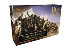 FIREFORGE TEMPLAR KNIGHTS CAVALRY 12 MULTI-PART HARD PLASTIC 28mm FIGURES FFG002